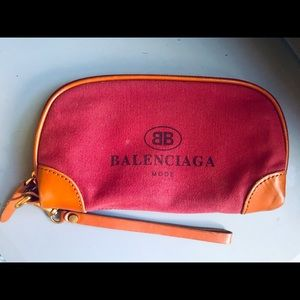 Balenciaga clutch wallet. Canvas and leather.